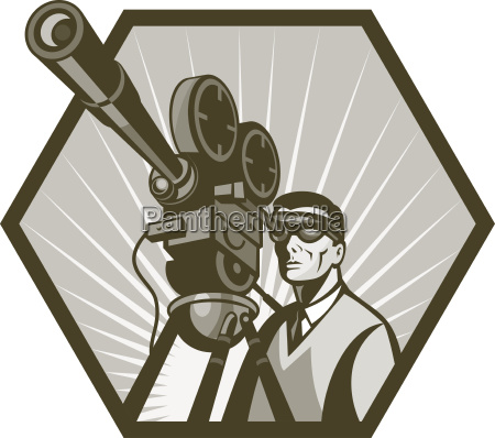 vintage movie television film camera director