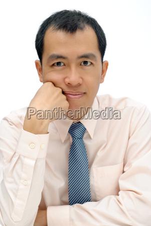 mature executive of asian