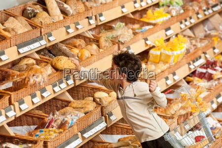 grocery store shopping little boy