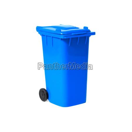 blue, empty, recycling, bin - 4564110