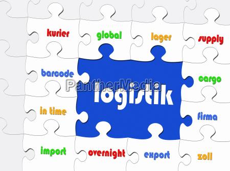 logistics business concept puzzle