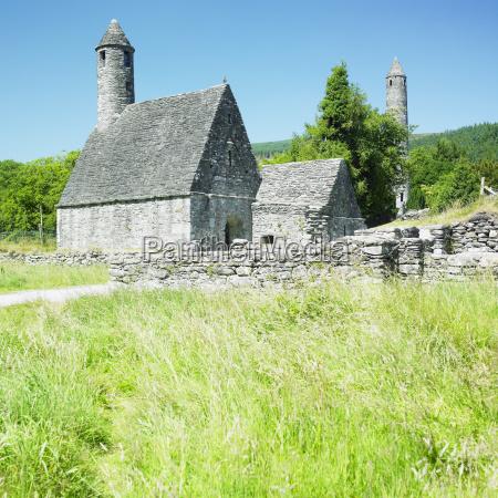 st kevinZs monastery glendalough county wicklow
