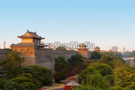 city center wall in xian china