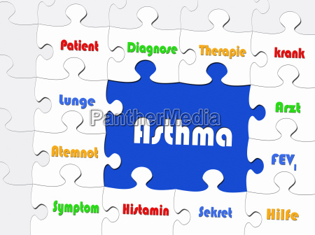 asthma concept disease and medicine