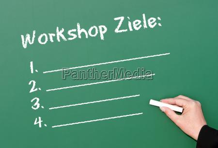 workshop objectives business concept