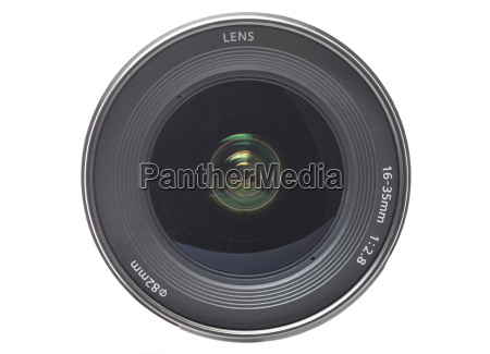 front view of camera lens