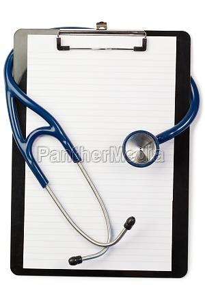 medico azul nota escuchar herramienta salud