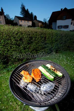 pork steak and zucchini on a