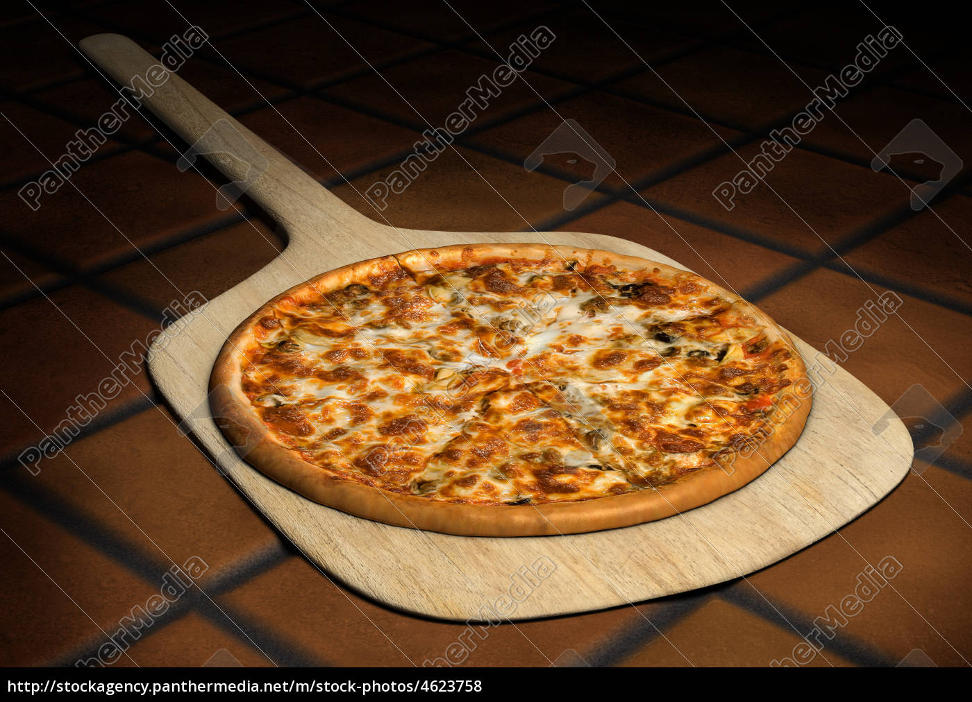 pizza, on, a, wooden, peel - 4623758