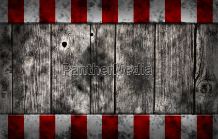 wooden wall and striped warnbake