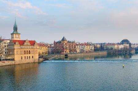 view to vltava river and smetanovo