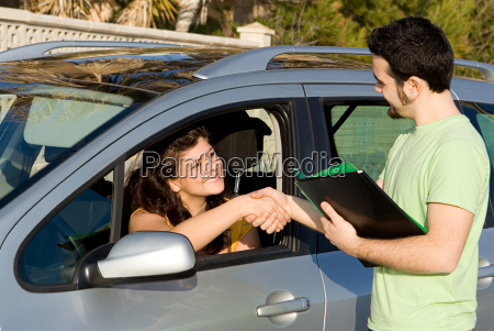passed driving exam or buying or