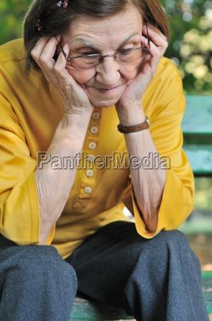 senior woman worried