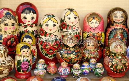 photo of russian matryoshka dolls in
