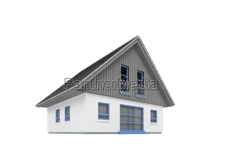 house over white