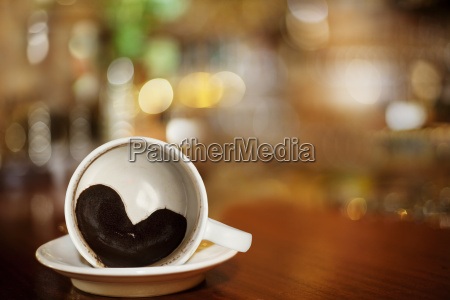 cup of coffee with heart of