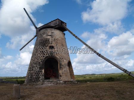 old windmill at bettys hope plantation