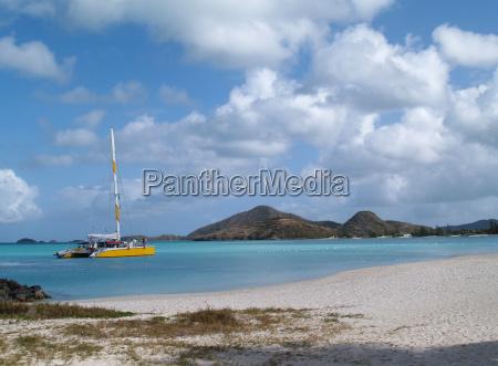 catamaran off jolly beach antigua barbuda