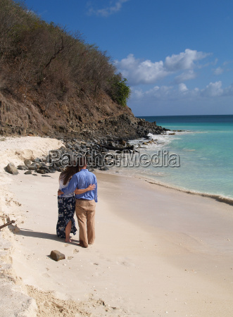 couple standing on frys beach in
