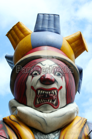 blow up scary clown