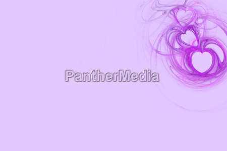 lavender heart design with pastel pink