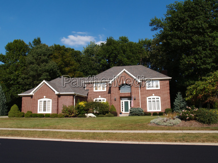 two story new brick residential home