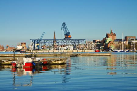 cidade porto portas mecklenburg agua stadthafen