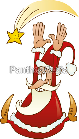 santa claus with christmas star