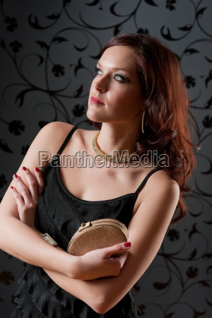 cocktail, party, woman, evening, dress, hold - 4682972