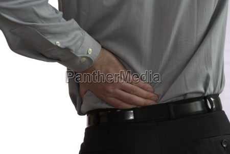 businessman with back pain