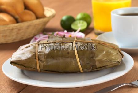 peruvian food called tamal