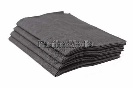 black paper tissues