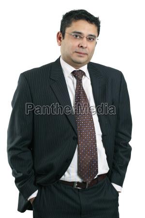happy indian businessman