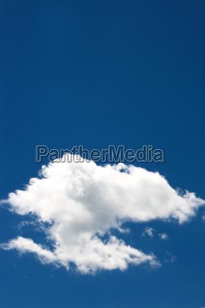 single cloud in a blue sky