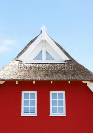 red home blue sky