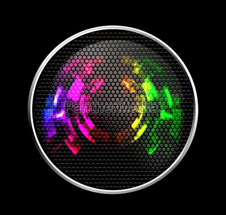 abstract futuristic speaker with glowing lights