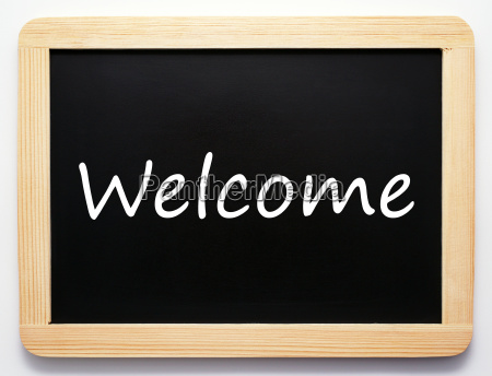 welcome concept sign