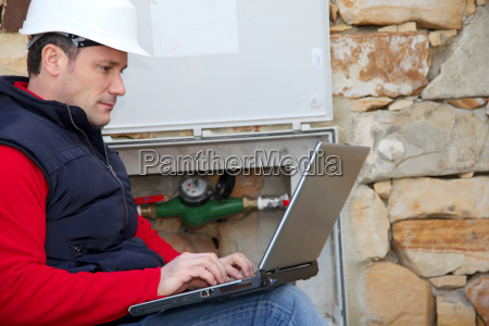 man reading domestic water consumption