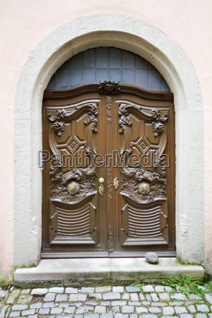 old door made of wood germany