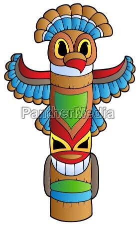 tall indian totem