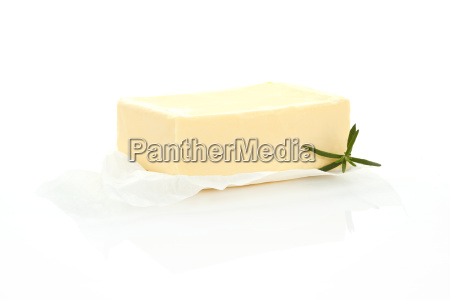 luxurious butter isolated