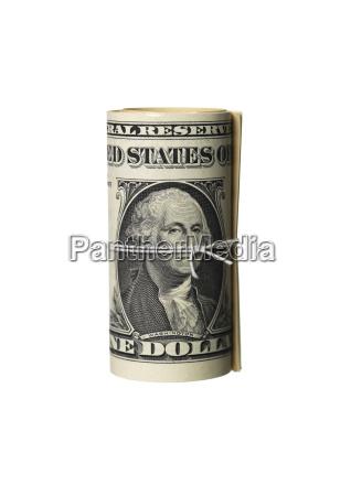 convoluted dollar bills