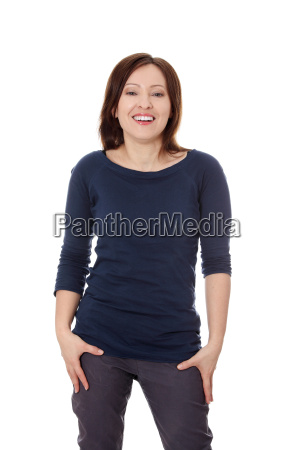 portrait of forty years old woman