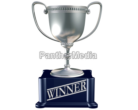 silver trophy for the winner