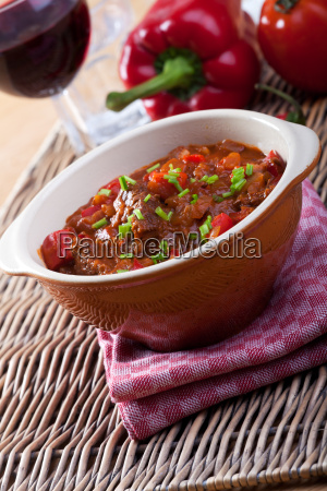 hungarian goulash in a bowl