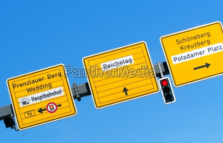 street, sign, and, signpost, potsdamer, platz - 4852250