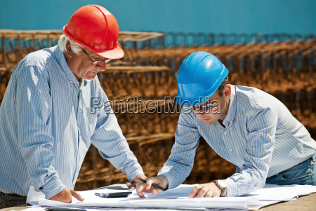 young engineer and senior foreman