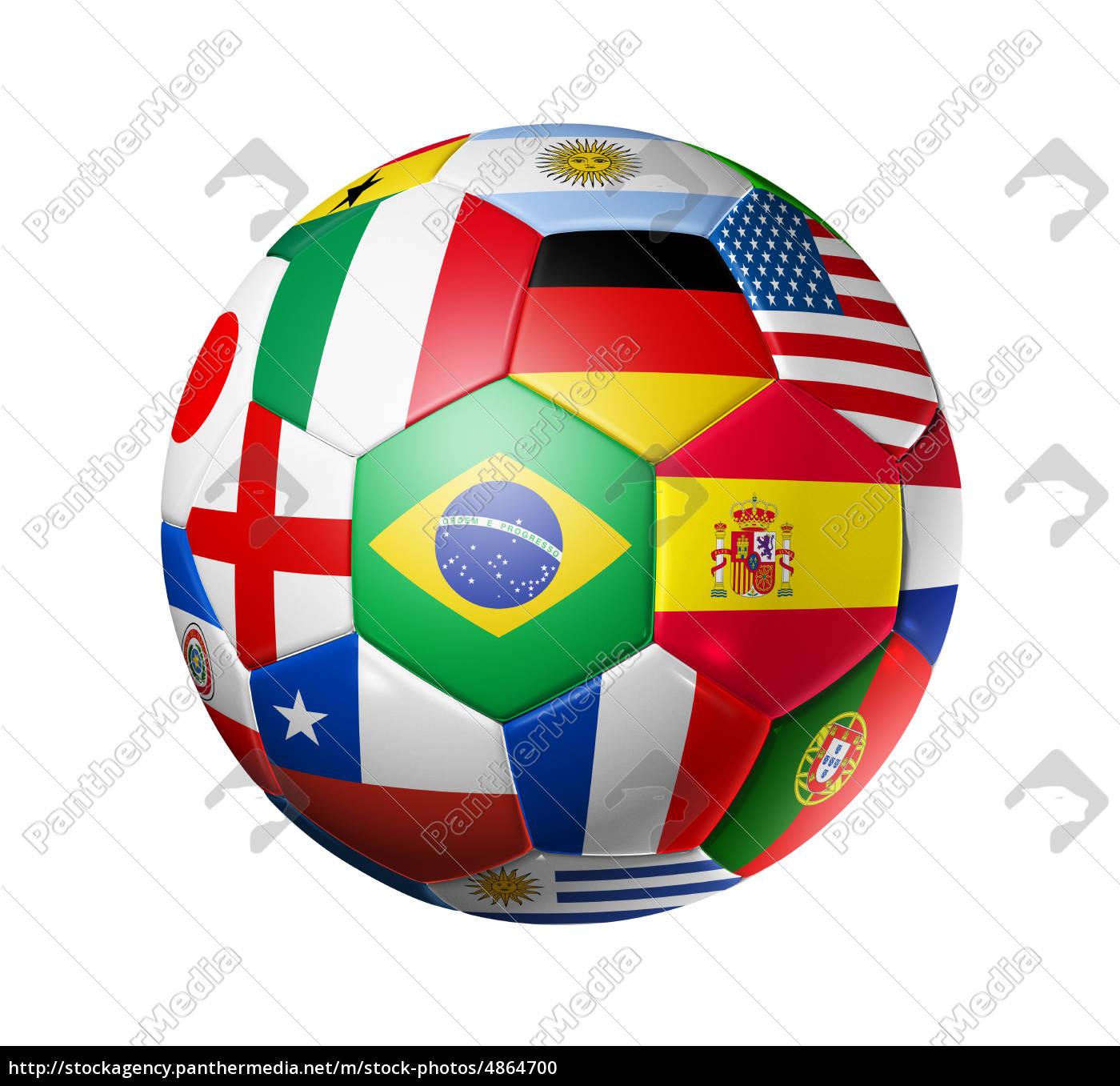 football, soccer, ball, with, world, teams - 4864700