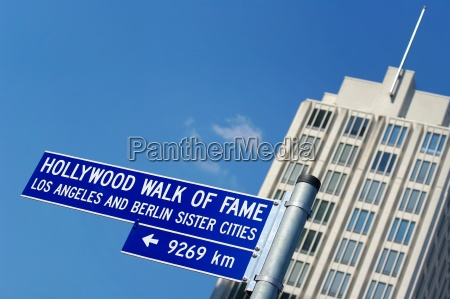 street sign walk of fame berlin