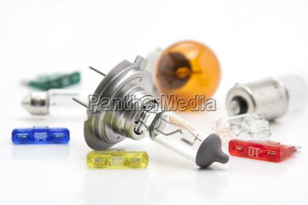automobile spare lightbulbs